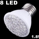 200-240V 50Hz 1.8W E27 38 LED Bulb Light  30pcs/lot  Free Shipping