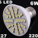 Ultra Bright 220V 6W E27 36 LED Light Bulb Lamp  50pcs/lot  Free Shipping by EMS/DHL