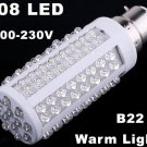 220V Bulb B22 5W 450LM Warm Light 108 LED Corn Light  20pcs/lot  Wholesale
