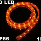 Yellow IP66 Waterproof SMD 3528 60 LED Strip Light Strip  10pcs/lot  Free Shipping