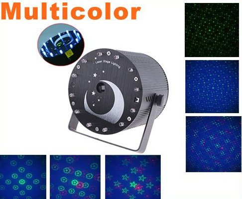 150mW Mini Multicolor Moving Party Laser Stage  LED Stage Lighting  Free Shipping