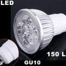 Energy-saving 150LM GU10 4 LED Light Bulb 4W Cold White 85-265V LED Light  20pcs/lot  Free Shipping