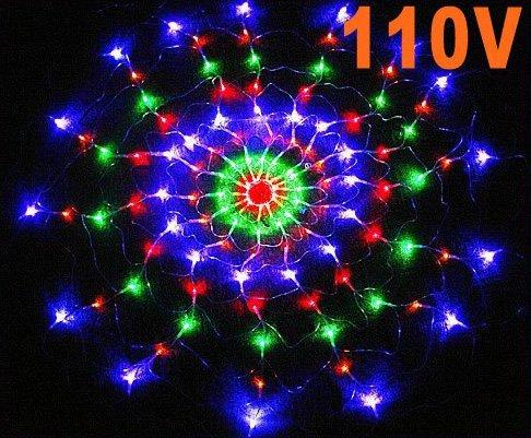 Colorful RGB Net LED Light For Christmas Party Wedding US 110V 6pcs/lot  Free shipping