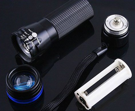 CREE Zoomable 3 Mode  200 Lumen LED Flashlight Torch  10pcs/lot  Free shipping