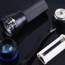 CREE Zoomable 3 Mode  200 Lumen LED Flashlight Torch  10pcs/lot  Free shipping