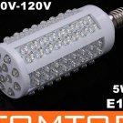 E14 Screw 5W 110V 108 Cold White LED Corn Light  Free Shipping