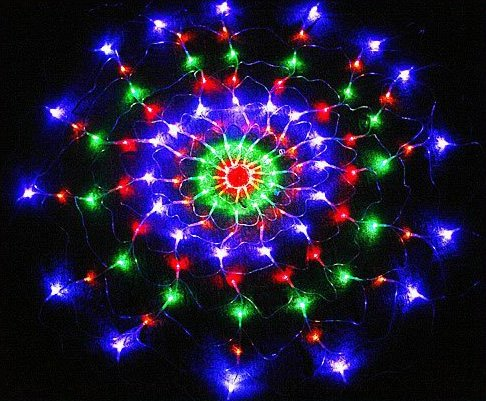 Colorful RGB LED Net Light Christmas Party Wedding Light  Free shipping  Retail