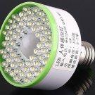 5pcs/lot   Ultra Bright 60 LED Light Screw E27 220V Bulb Cold White Auto IR Sensor  Free Shipping
