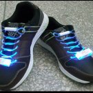 LED Light Up Shoelaces Flash Shoestrings Blue  10sets/lot  Free Shipping