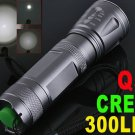 300 Lumens Adjustable Focusable CREE Q5 LED Waterproof  Torch Flashlight  5pcs/lot  Free Shipping