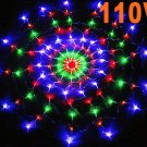 Colorful RGB LED Net Light Christmas Party Wedding Light  Free shipping 25pcs/lot
