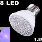 Blue Light 1.8W E27 38 LED Bulb  10pcs/lot  free shipping