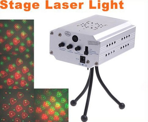 Mini Multicolor Moving Party Stage Laser Light Projector  Free Shipping