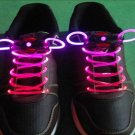 Pink LED Light Up Shoes shoelaces Luminous shoestring Flash Glow Stick  5sets/lot  Free Shipping