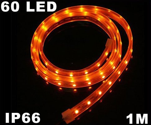 Yellow IP66 Waterproof SMD 3528 60 LED Strip Light Strip  Free Shipping