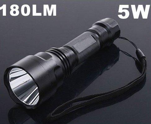 3 Mode 5W 180 Lumen Torch CREE  LED Flashlight  CREE Flashlight  LED Flashlight