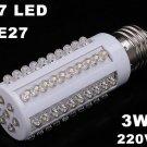 E27 Screw 3W 220V 67 Warm White LED Corn Light Bulb Lamp  10pcs/lot  Free Shipping