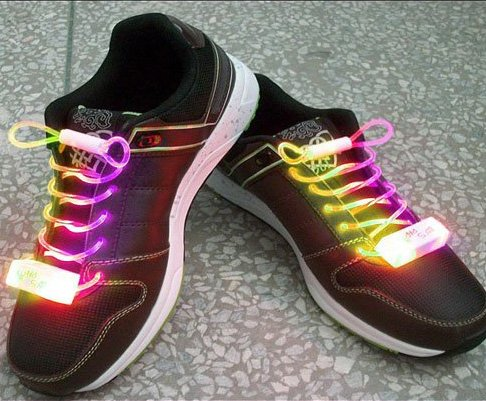 LED Light Up Shoelaces Flash Shoestrings Multi-Color  5sets/lot  Free Shipping