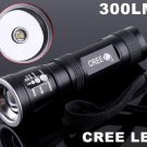 CREE LED 3-Modes 300LM Focusable Waterproof  LED Flashlight /LED Torch  Free shipping  Wholesale