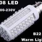 220V Bulb B22 5W 450LM Warm Light 108 LED Corn Light  10pcs/lot  Free Shipping