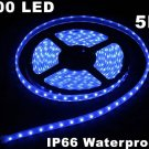 Blue IP66 Waterproof 5M SMD 3528 300 LED Strip Light  5pcs/lot  Free Shipping