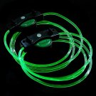 LED Light Up Shoelaces Flash Shoestrings Green  10sets/lot  Free Shipping