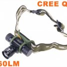 Adjustable Focus Beam CREE Q5 LED Headlamp Light Flashlight Torch  Free Shipping  Retail