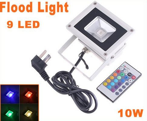 10W RGB Flash Landscape Lighting LED Flood Light Floodlight Free Shipping
