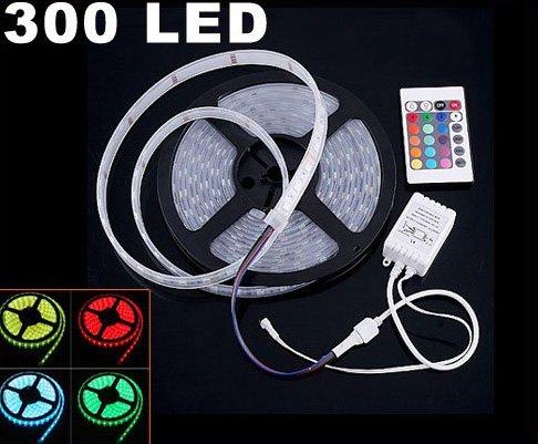 IP66 Waterproof 5M SMD 5050  300 LED RGB Strip Light  Free Shipping