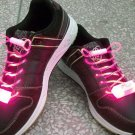 LED Light Up Shoelaces Flash Shoestrings Pink  10sets/lot  Free Shipping