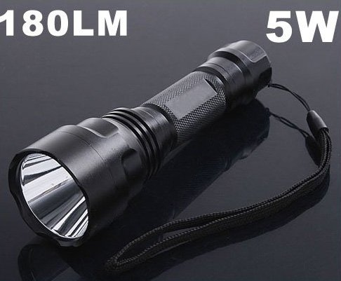 3 Mode 5W 180 Lumen Torch CREE LED Flashlight  CREE Flashlight  LED Torch