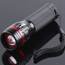 10pcs/lot Free Shipping  Zoomable 3 Mode CREE LED Flashlight Torch 200 Lumen AAA