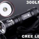 CREE LED 3-Modes 300LM Waterproof  LED Flashlight   LED Torch  CREE LED Flashlight