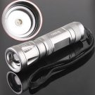CREE LED 3-Modes 300LM Focusable Waterproof LED Torch Flashlight  10pcs/lot  Free shipping