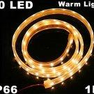 Warm White Light IP66 Waterproof 1M SMD 3528 60 LED Strip Light  10pcs/lot  Free Shipping