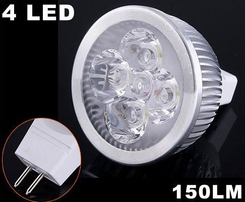 Energy Saving 150LM 4W Cold White MR16 LED Light  20pcs/lot  Free Shipping