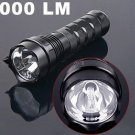 24W 2000LM  Waterproof Ultra-Bright HID Xenon Torch Flashlight  Free Shipping
