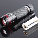Zoomable 3 Mode CREE LED Flashlight Torch 200 Lumen AAA  free shipping  Wholesale