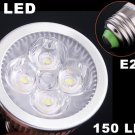 E27 150LM 4W Energy Saving Cold White 4 LED Light Bulb  Free Shipping