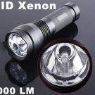 24W 2000LM Ultra-Bright Waterproof HID Xenon Flashlight Torch Black  Free shipping