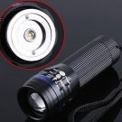 Zoomable 3 Mode 200 Lumen CREE  LED Flashlight  LED Torch  Free shipping
