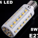 Bright 8W E27 44 LED Warm Light SMD Corn Light Bulb Lamp  10pcs/lot  Free Shipping