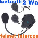 Hot Intercom Hand free Bluetooth Interphone 2-Way Motocycle Helmet Intercom  free shipping