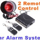 Car alarm  Car alarm security system 1-Way Car Alarm Protection System with 2 Remote Control