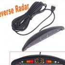 Car LED Display Parking Reverse Backup Radar w/4 Sensors car parking system
