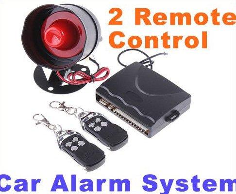 Car alarm Car alarm security system 1-Way Car Alarm Protection System with 2 Remote Control