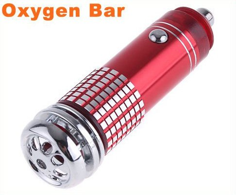 Free Shipping Mini Auto Car Fresh Air Purifier Oxygen Bar Ionizer car air cleaner