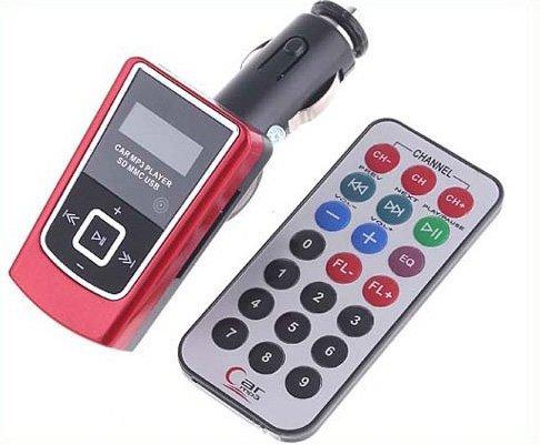 Car Stero FM Transmitter MP3 USB SD w/ Remote Control Free Shipping