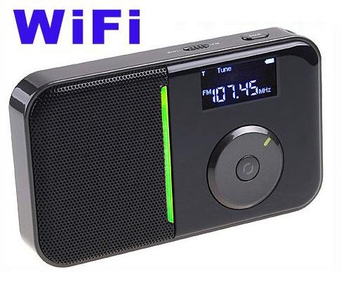 Portable Mini Pocket Wireless WiFi Internet FM Radio Player