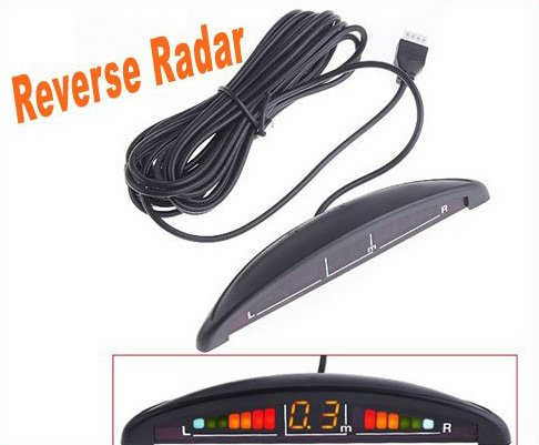 Car Reverse parking sensor Car LED Display Parking Reverse Backup Radar w/4 Sensors